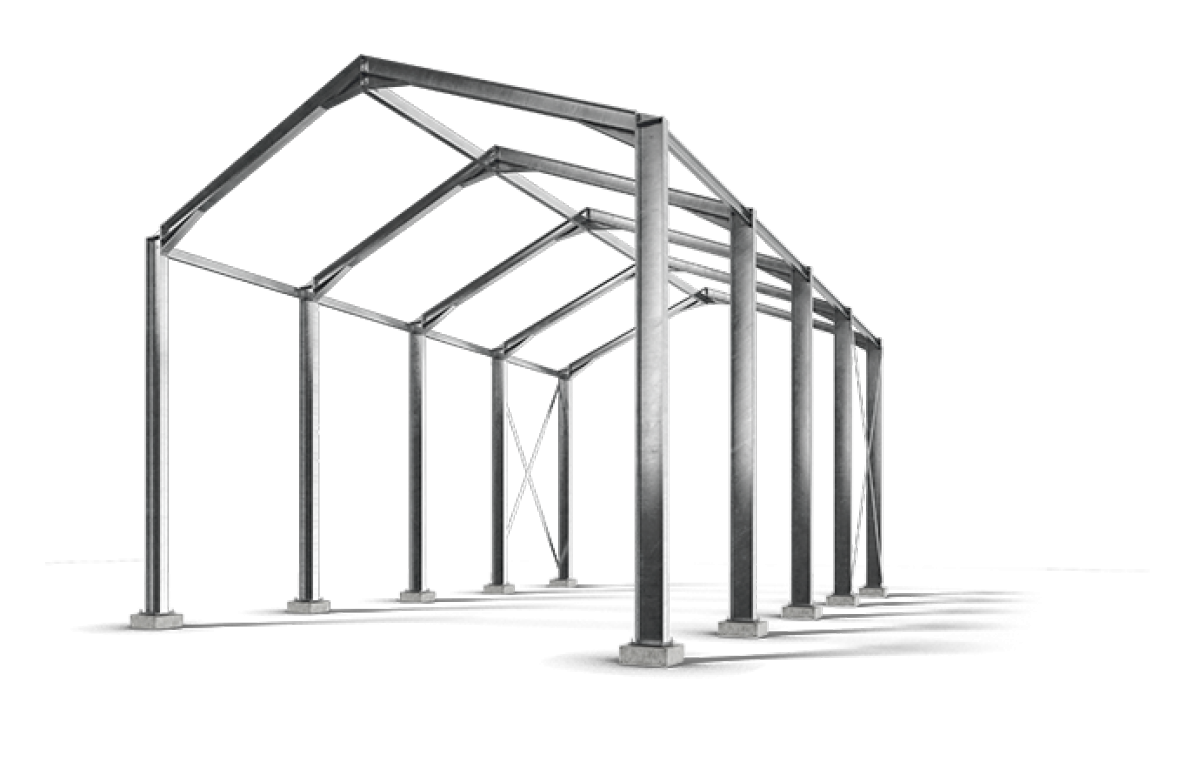 Structural Framing Fittings : Full structural frame surrey steels steel fabricator